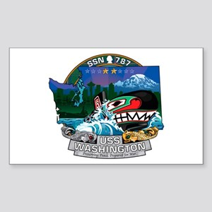 USS Washington SSN-787 Sticker (Rectangle)