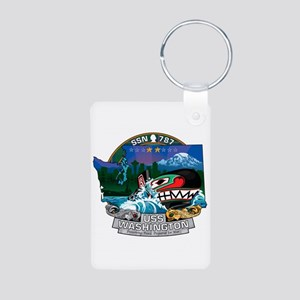 USS Washington SSN-787 Aluminum Photo Keychain