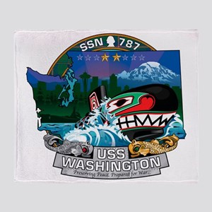 USS Washington SSN-787 Throw Blanket