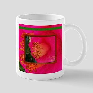 Flower-Art-Rare-Pink-Yellow-Stamen-Green Mugs