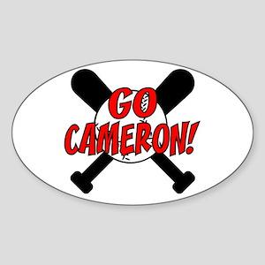 Go Cameron! Oval Sticker
