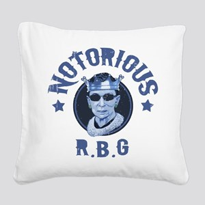 Notorious RBG III Square Canvas Pillow