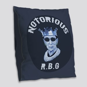 Notorious RBG III Burlap Throw Pillow