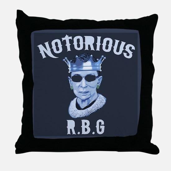 Notorious RBG III Throw Pillow