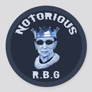 Notorious RBG III Round Car Magnet