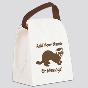 PERSONALIZED Ferret Graphic Canvas Lunch Bag