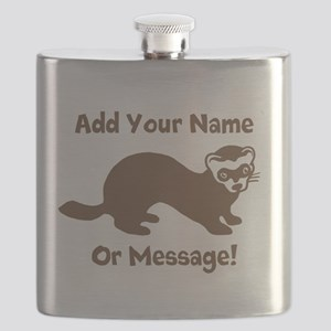 PERSONALIZED Ferret Graphic Flask