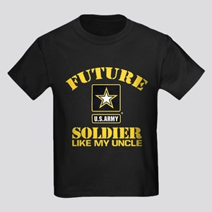 Future Army Soldier Like My Uncl Kids Dark T-Shirt
