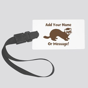 PERSONALIZED Ferret Graphic Large Luggage Tag