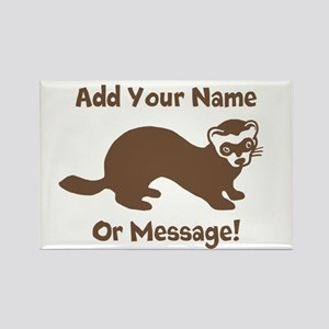 PERSONALIZED Ferret Graphic Rectangle Magnet