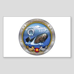 USS Colorado SSN-788 Sticker (Rectangle)