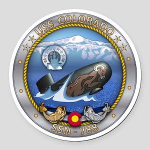 USS Colorado SSN-788 Round Car Magnet
