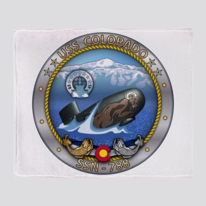 USS Colorado SSN-788 Throw Blanket