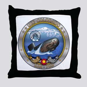 USS Colorado SSN-788 Throw Pillow