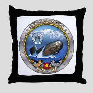 USS Colorado SSN-788 Throw Pillow