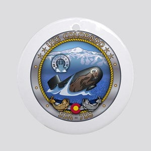 USS Washington SSN-787 Round Ornament