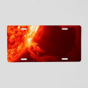 SOLAR FLARE 1 Aluminum License Plate