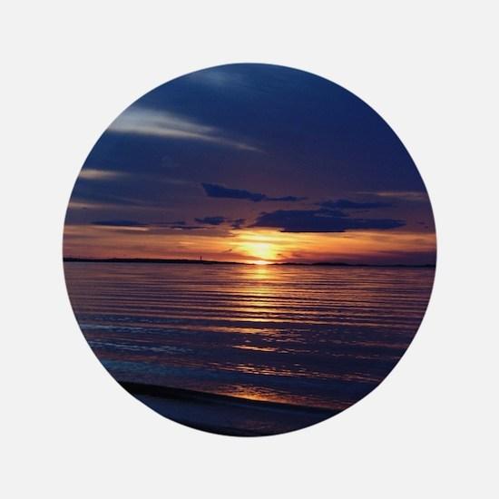 Millway Beach Sunset Button