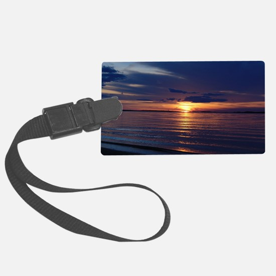 Millway Beach Sunset Large Luggage Tag