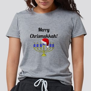 Merry Chrismukkah Menorah Womens Tri-blend T-Shirt