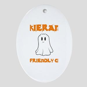Kieran the Friendly Ghost Oval Ornament