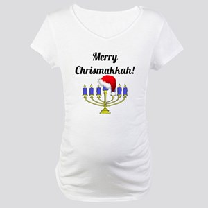 Merry Chrismukkah Menorah Maternity T-Shirt