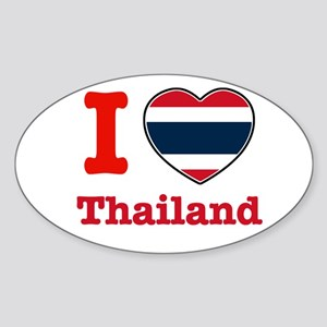 I love Thailand Oval Sticker