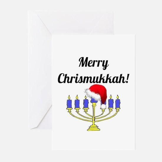 Merry Chrismukkah Menora Greeting Cards (Pk of 20)
