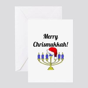 Merry Chrismukkah Menorah Greeting Card