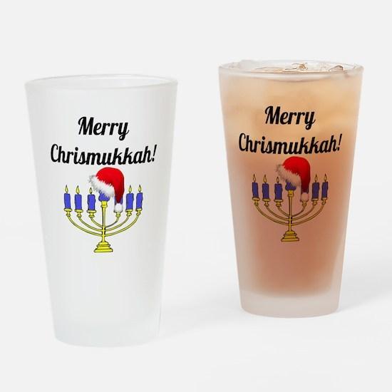 Merry Chrismukkah Menorah Drinking Glass
