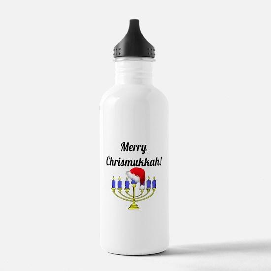 Merry Chrismukkah Meno Water Bottle