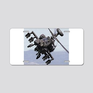 Apache Attack Helicopter Mo Aluminum License Plate