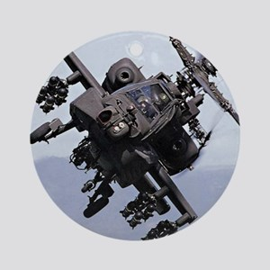 AH-64A/D, the Apache Attack Helicop Round Ornament