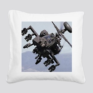AH-64A/D, the Apache Attack H Square Canvas Pillow