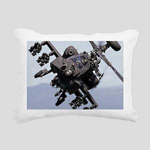 AH-64A/D, the Apache Att Rectangular Canvas Pillow