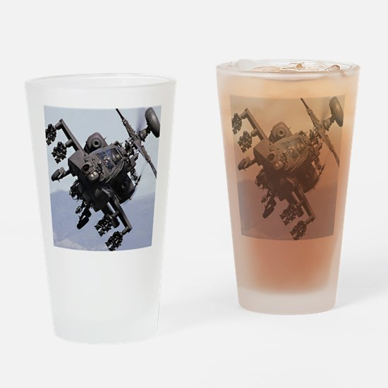 AH-64A/D, the Apache Attack Helicop Drinking Glass