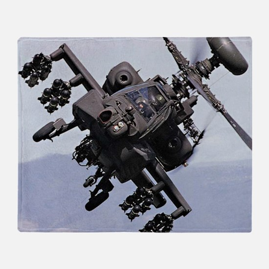 AH-64A/D, the Apache Attack Helicopt Throw Blanket
