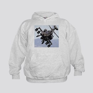 AH-64A/D, the Apache Attack Helicopter Kids Hoodie