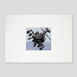 AH-64A/D, the Apache Attack Helicop 5'x7'Area Rug