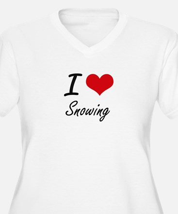 I love Snowing Plus Size T-Shirt