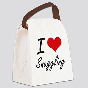 I love Snuggling Canvas Lunch Bag