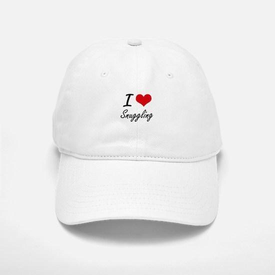 I love Snuggling Baseball Baseball Cap
