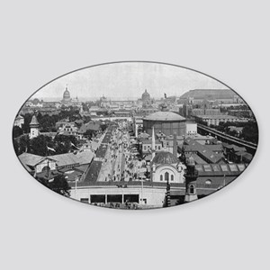 Columbian Exposition Midway Plaisan Sticker (Oval)