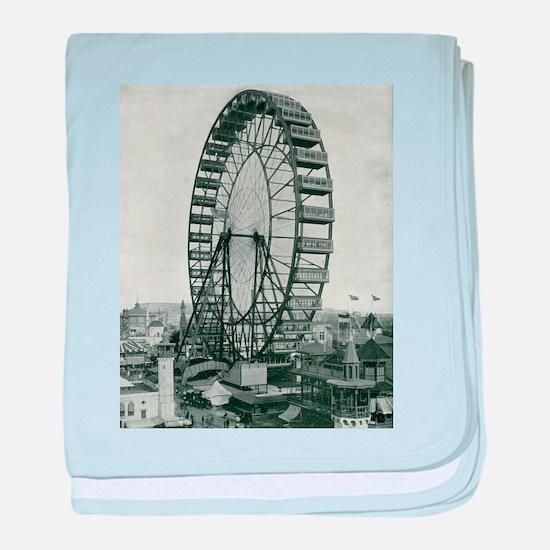 Columbian Exposition Ferris Wheel baby blanket