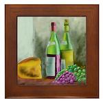 Merlot Chablis Framed Tile