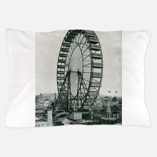 Columbian Exposition Ferris Wheel Pillow Case