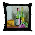 Merlot Chablis Throw Pillow