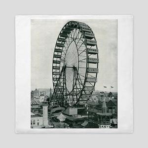 Columbian Exposition Ferris Wheel Queen Duvet