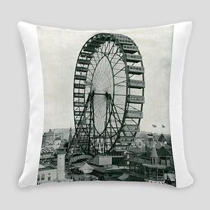 Columbian Exposition Ferris Wheel Everyday Pillow