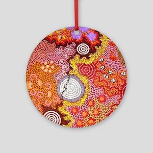 AUSTRALIAN ABORIGINAL ART 2 Round Ornament